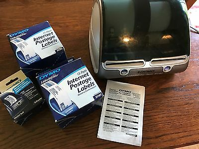DYMO LabelWriter Twin Turbo Label Printer w/ Adapter, USB, Spare Paper