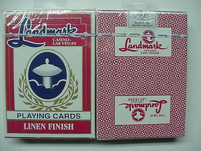 LANDMARK HOTEL & CASINO Brand New VINTAGE Deck of Cards RARE Red or Blue