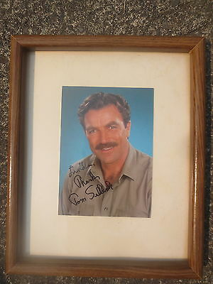Tom Selleck Photo Picture Framed Autographed Hand Signed Original