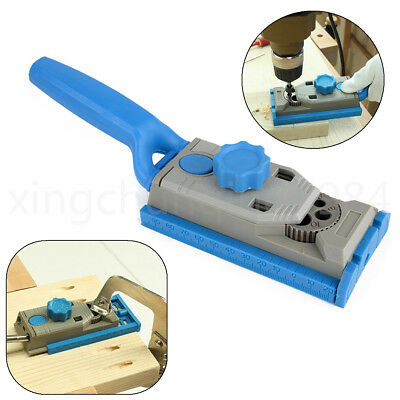 Pocket Hole Drill Jig Dowel Wood Jointing Drilling Tenon Locator for Woodworking