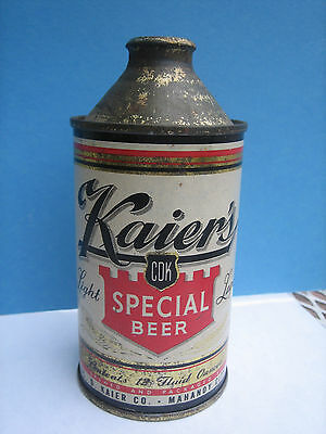 Kaier's Cone Top Beer Can - Empty