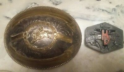 Vintage oversized Rodeo belt buckle award design