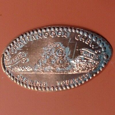 CHATTANOOGA CHEW CHEWING TOBACCO Premium Flavor TRAIN Elongated Pressed Penny