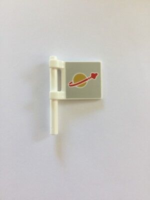 Lego Space Flag x 1, Minifigure Accessories, New, Part, White Silver, Astronaut