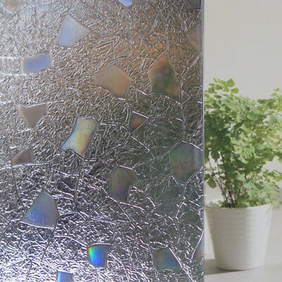 New 3D Non-Glue Static Window Films Privacy Cling Glass Sticker PVC Decorating