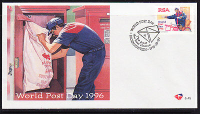 South Africa 1996 - World Post Day  Souvenir Cover - Unaddressed