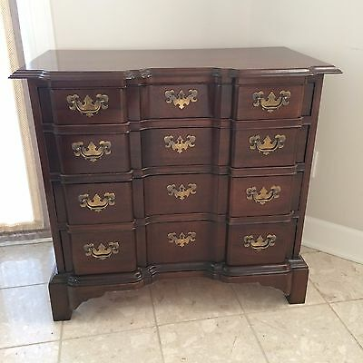 "Hickory Chair Block Front Elegant Traditional Chest Mahogany 35.5""x19""x32.5"""