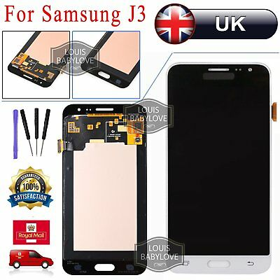 For Samsung Galaxy J3 2016 SM-J320FN White Touch Screen Digitizer + LCD Display