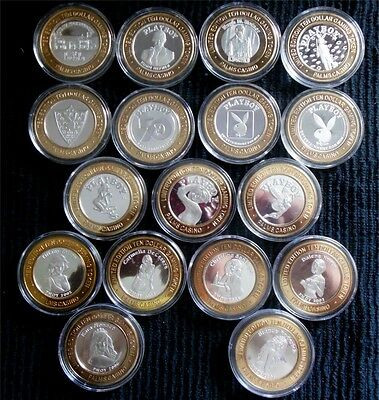 """HARD TO FIND / Palms Complete 17 Pc. """"Playboy"""" Silver Strike Set"""