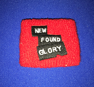 T New Found Glory PROMO SWEATBAND EMBROIDED RED PUNK UNUSED