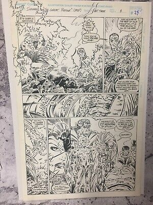 Marvel Inhumans Great Refuge 3 Pg 8 Page Original Comic Art Artwork Robert Brown