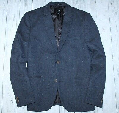Men's H&M 2 btn Donegal tweed style blazer in navy-40R