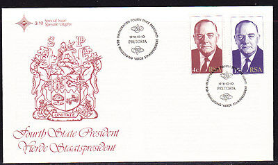 South Africa 1978  4th State President Souvenir Cover - Unaddressed