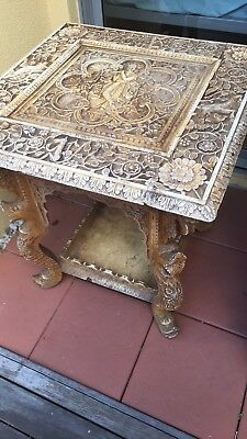 Unique, Stunning Antique Indian Side Table
