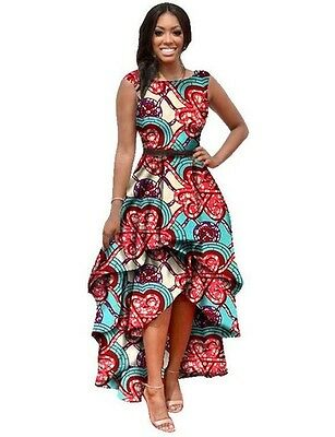 African Women Dashiki Print Ankara Dress.Sizes available: XXL, 3XL and 4XL.
