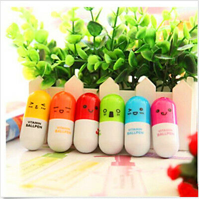 6pcs Student Children Novelty Capsule Pill Doctor Nurse Ballpoint Pen Toy Gift
