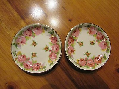 Royal Doulton Roses & Wattle D5643 Butter Pat 9.5cm Made in England c1936