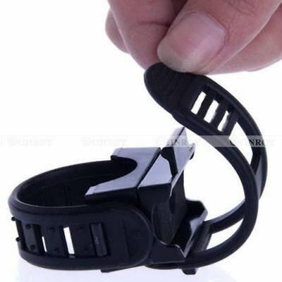 Adjustable 360 Degree Cycling Mount Bike Clamp Grip Bicycle Torch Light Holder