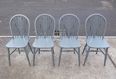 "Set Of 4 Wheel Back Chairs In F&b's ""downpipe""    Delivery Available"