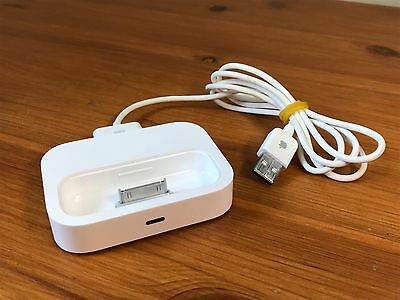 Genuine Apple A1256 Universal 30 Pin iPod iPhone Charger Dock w/ USB Cable