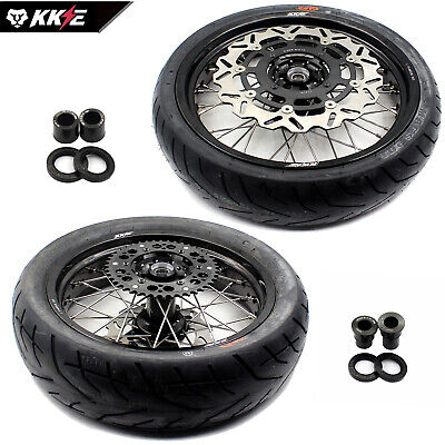 4.25*17 Suzuki Drz400 Drz400S/e Supermoto Motard Wheels Rim Set Kit & Tire Tyre