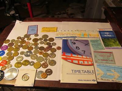 Lot Of 68 Transit Tokens ; Agent Stubs And Train Tickets; Lot # 1