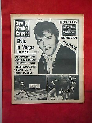 Nme New Musical Express, 22 August 1970. Elvis Cover, Fleetwood Mac, Jimmy Cliff