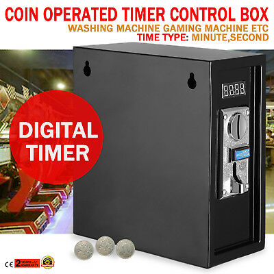 Coin Operated Timer Digital Supply Box Coin Meter Device w/ a 30-second Warning