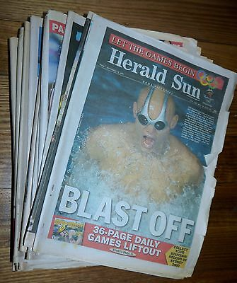 Olympics – Sydney 2000 – Herald Sun – Newspapers from during the Olympics.