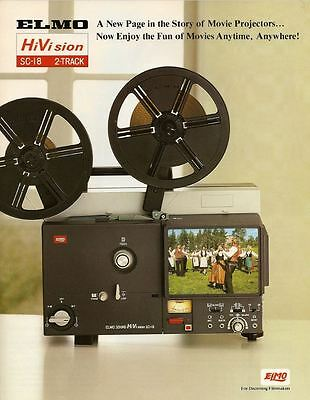 Projector Heaven. Elmo Sc-18M, Super 8 Sound Movie Projector Daylight Screen. A1