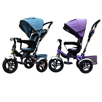 Kids Tricycle 3 Wheel Reverse Bike Children Ride-On Toddler Infant 4 in 1 Pedal