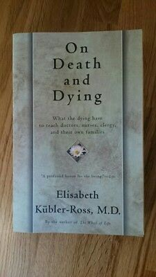 On Death and Dying by Elizabeth Kubler Ross (Paperback, 1997). Counselling book