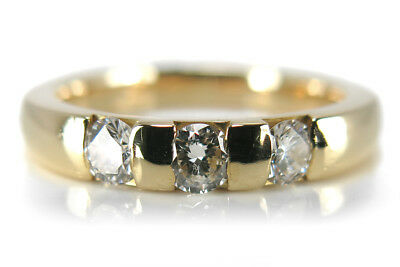 Ring mit Brillanten insg ca 0,45ct Top Wesselton/vs 750 Gelbgold [BRORS 14991]