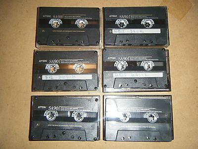 Used quality TDK SA90 blank cassette tapes type II high position