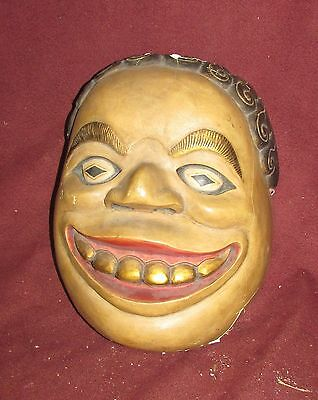 Old or Antique Chinese Mask Modern Art Painting Sculpture Paper Mache'