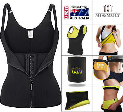 Women's Body Shaper Slimming Waist Trainer Cincher Underbust Corset Shapewear AU