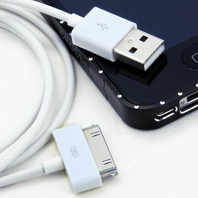 USB Datenkabel Sync Ladekabel für Apple iPhone 4 4S 3GS iPad 2 3 iPod (Weiß 1m)