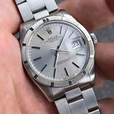 Rolex Oyster Perpetual Date 1501 1973 Vintage Mens Watch