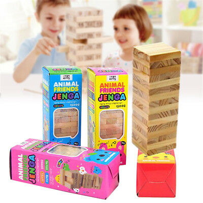 48PCS Jenga Classic Balance Board Game Kit Building Block Gift Kids Toys