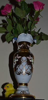 Bohemia Vase Gold plated Hand Made