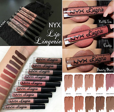 NYX Lingerie Matte Liquid Lipstick Waterproof Lip Gloss ** UK Seller **