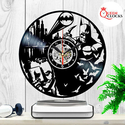 Batman Joker Arkham Origins DC Comics Vinyl Record Wall Clock Birthday Gift