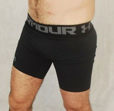 Mens Under Armour Compression Shorts Black NEW
