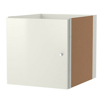 Kallax Storage Unit or bookshelf white door kits x 2 Insert with door