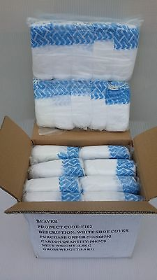 White Shoe Covers - 500 Pieces - 250 Pairs - Non Slip - Carpet Cleaner - Tradies