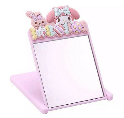 Super Cute Mini For My Melody Desk Folded Girls Pocket Make up Cosmetic Mirror