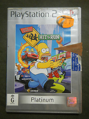 The Simpsons Hit & Run Sony Playstation 2 PS2 Game