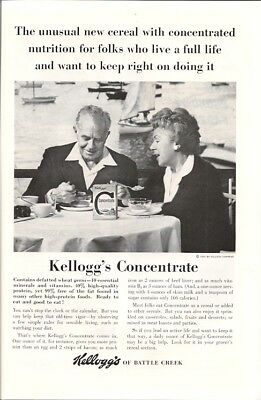 Defatted Wheat Germ Kelloggs Concentrate Nutritional Cereal Vintage Ad