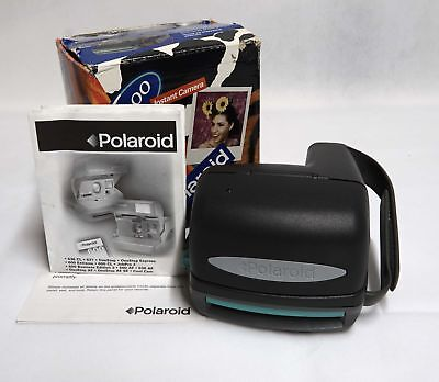 Polaroid 600 Series Instant Film Camera W/Box & Manual - Tested & Working