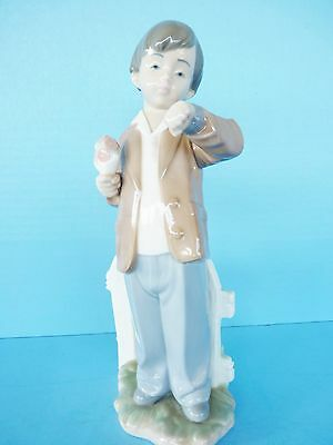 Large Lladro Nao Figure She's Late Waiting For His Date 1278